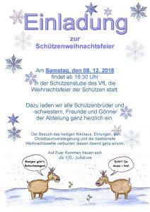 Schützenweihnachtsfeier 2018 @ Schützenstube