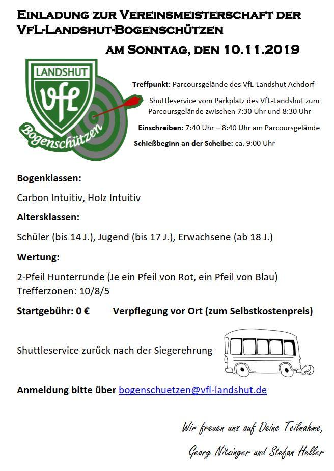 VfL-Vereinsmeisterschaft @ VfL-Bogenparcours